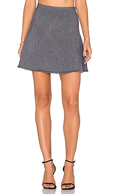 Theory Lotamee M Skirt in Navy Mix