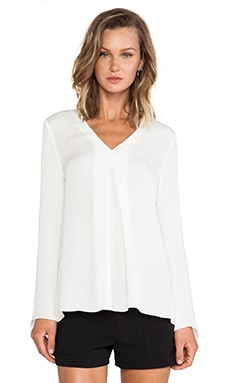 Theory Trent Blouse in Ivory