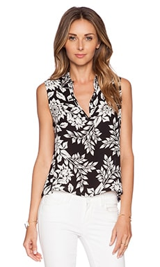 Theory Kenzly Top in Black & Ivory