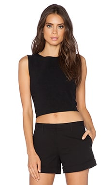 Theory Pagia Crop Top in Black