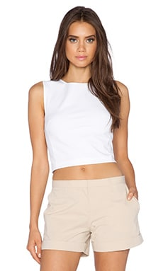 Theory Pagia Crop Top in White