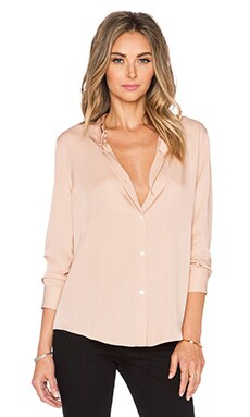 Theory Tenia Button Up in Cameo