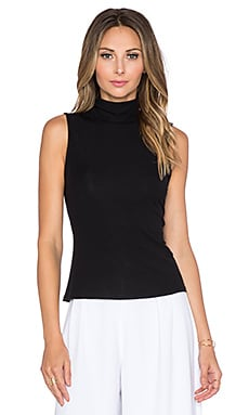 Wendel Turtleneck Tank in Black