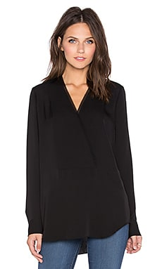 Theory Ramalla Blouse in Black