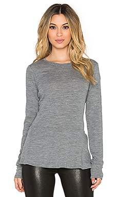 Theory Malydie Top in Light Heather Grey