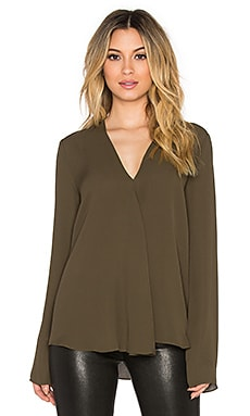 Theory Meniph Blouse in Cedar
