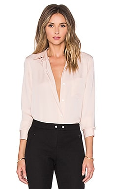 Theory Nijee Button Up in Blush