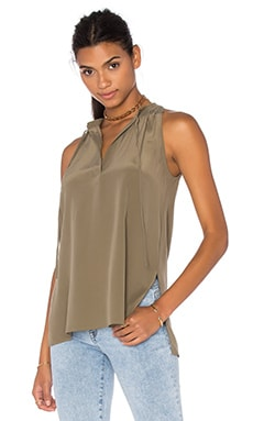 Theory Livilla Tank in Moss