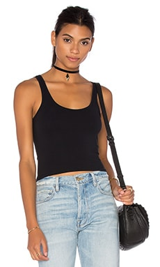 Theory Fliore Crop Top in Black
