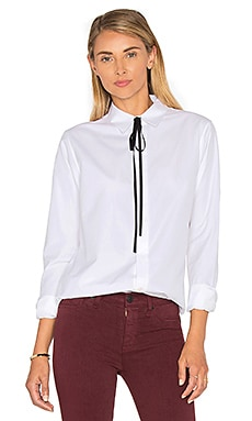 Theory Anesha Button Up in White