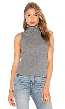 Wendel Turtleneck Tank in Mid Grey Melange