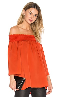 Elistaire Off the Shoulder Blouse in Paprika