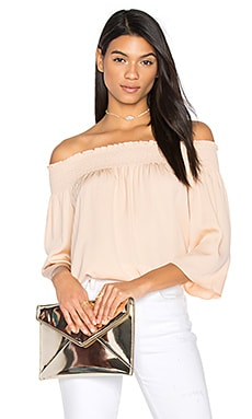 Elistaire Off the Shoulder Blouse in Rose