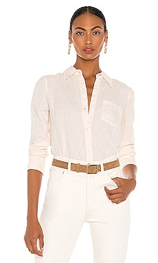 Slim Collar Button Down Theory $215 NOUVEAU