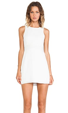 Three of Something Natural Means Dress in White
