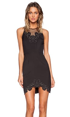 Three of Something Trellis Adventure Dress in Black & Gun
