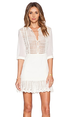 Three of Something Mariposa Mini Dress in Natural