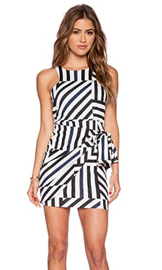 Three of Something Wrong Turn Around Mini Dress in Wrong Turn Stripe