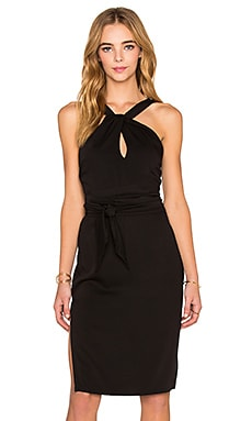 Three of Something Expedition Midi Dress in Black
