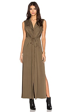 Three of Something Rover Maxi Dress in Khaki