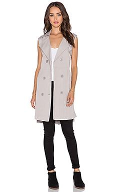 Three of Something Revolve Trench Vest in Silver