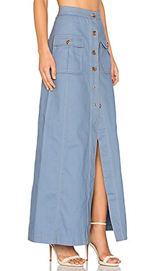 Three of Something Dream On Skirt in Denim