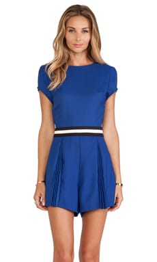Three of Something Crystallized Playsuit in Cobalt