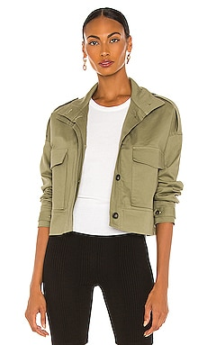 Structured Twill Cropped Military Jacket The Range $316 Collections