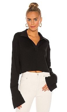 Stark Waffle Knit Cropped Polo The Range $165 BEST SELLER
