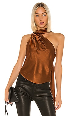 Liquid Satin Convertible Scarf Neck Tank The Range $225