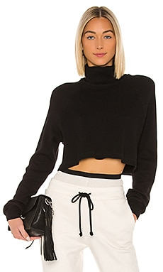 Stark Waffle Knit Cropped Turtleneck The Range $148