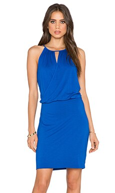 three dots Wrap Dress in Surf Blue
