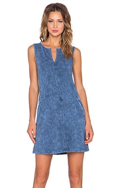 three dots Sleeveless Tunic Dress in Blue Jean