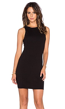three dots Seamed Dress in Black