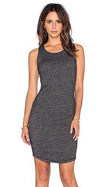 three dots Shirred Dress in Black