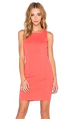 three dots Seamed Dress in Coral Sun