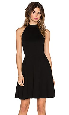 three dots Olivia Mini Dress in Black