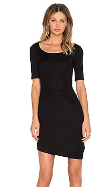 three dots Christina Drape Front Dress in Black