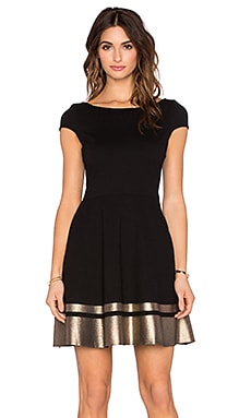 three dots Rita Mini Dress in Black