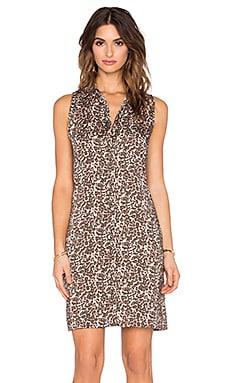 three dots Piper Shift Dress in Natural Combo