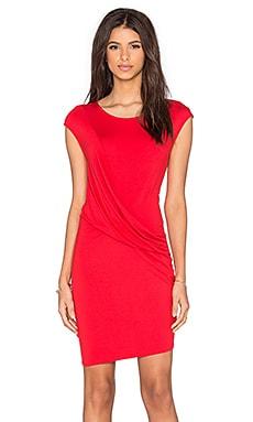 three dots Maha Mini dress in Wonder Red