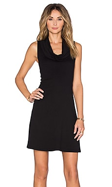 three dots Meryl Cowl Neck Dress in Black