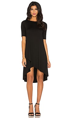 three dots Olya High Low Dress in Black