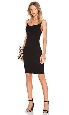 Dalia Cowl Neck Mini Dress in Black