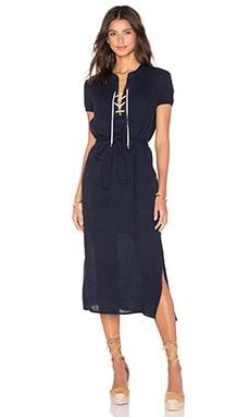 three dots Abby Lace-Up Dress in Night Iris