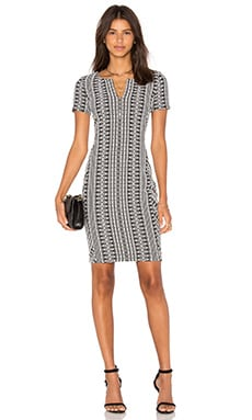 three dots Dre Side Panel Dress in Black