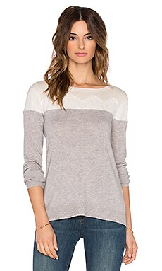 three dots Casey Sweater in Granite Combo