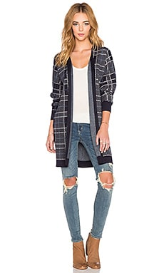 three dots Slouchy Dolman Cardigan in Night Iris Combo