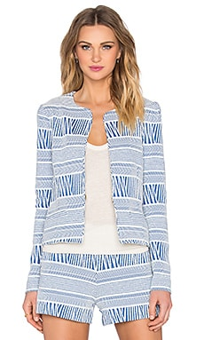 three dots Shailene Blazer in White Combo