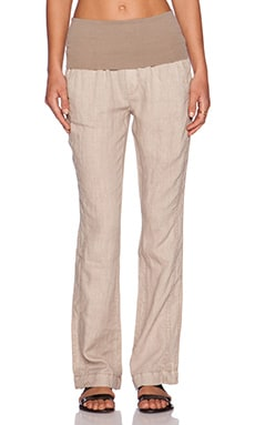 three dots Foldover Pant in Caribbean Sand